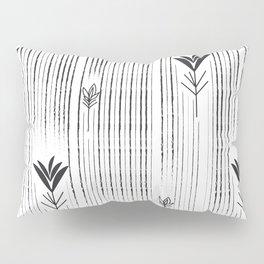 Black & White Siam Tulips Pillow Sham