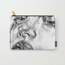 Colored Pencil Portrait Carry-All Pouch