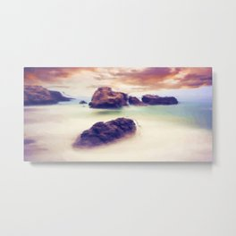 Floating stones Metal Print