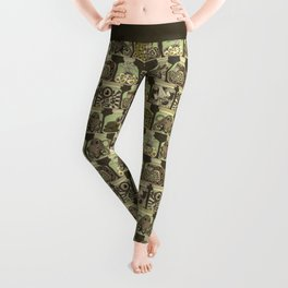 weird pickles vintage Leggings