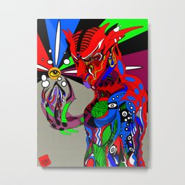 Holder of the Eye Metal Print