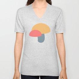 Bright Mushroom Caps Unisex V-Neck