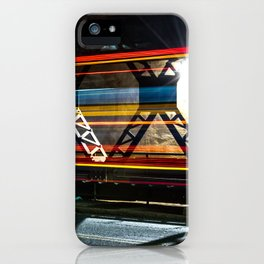 A Bus with Lingering Lines iPhone Case