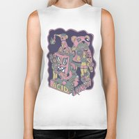 acid Biker Tanks featuring acid lunch by Andrea Moresco