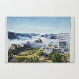 Yemeni City Oil painting - middel east city Canvas Print