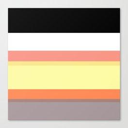Random Stripe Pattern Geometric Print Canvas Print