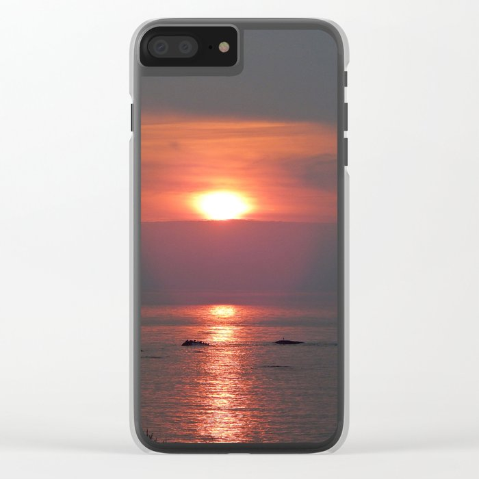 Ste-Anne-Des-Monts Sunset on the Sea Clear iPhone Case