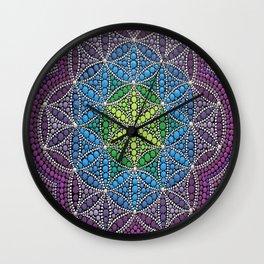 Mandala Flower of Life Wall Clock