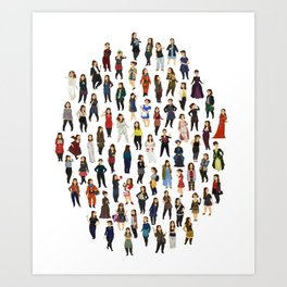 Every Clara Outfit Ever Art Print