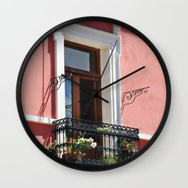 Balconies of Puebla  Wall Clock