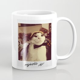 Reindeer Cat Majestic AF Coffee Mug