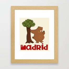 MADRID: Bear and Madrono (v.2) Framed Art Print