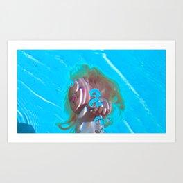 doll under water 3 Art Print