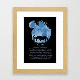 Zodiac Sign of Virgo August and September Birthdays Framed Art Print