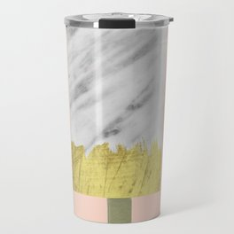 Carrara Italian Marble with Gold Popsicle Travel Mug