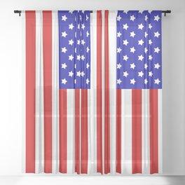 Original American flag Sheer Curtain
