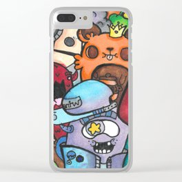 Monsters, Fish, and Zombies Clear iPhone Case