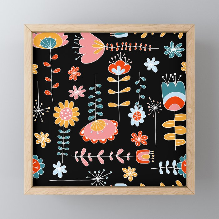 Folk Dance Framed Mini Art Print