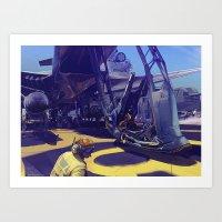 pilot Art Prints featuring Pilot by Alex Jay Brady