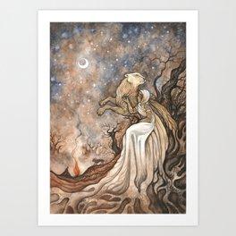 La Lionne Art Print