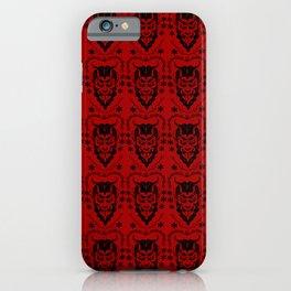 Krampus black on red iPhone Case