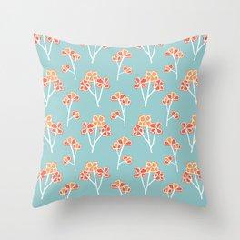 anemone flowers :: sea mist Throw Pillow