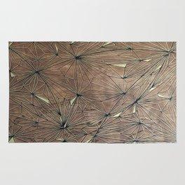 Stare Geometric Fractals on Wood Rug