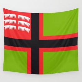 karelian flag w/ northern lights Wall Tapestry