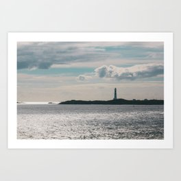 Lighthouse at the coast | Norway travel photography Art Print