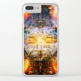 Cosmic Ripple Clear iPhone Case
