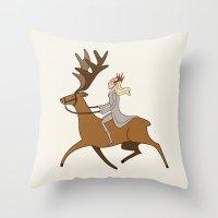 thranduil Throw Pillows featuring Fabulous Thranduil by Angela Taratuta