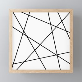 Lines in Chaos II - White Framed Mini Art Print