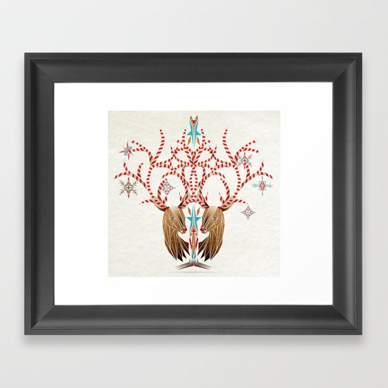 christmas deer Framed Art Print