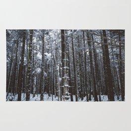 Appalachian Snowy Forest #1 Rug
