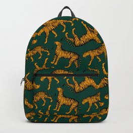 Tigers (Dark Green and Marigold) Backpack