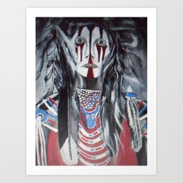 Soldier Native Art Print