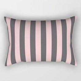 Millennial Pink Blush Coco Brown Neapolitan Stripes Pattern Rectangular Pillow