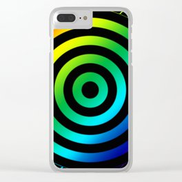 Rainbow Target Clear iPhone Case