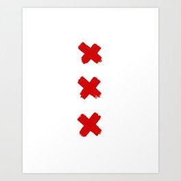 Amsterdam Crosses Art Print