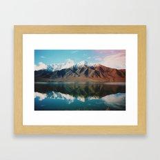 New Zealand Glacier Landscape Framed Art Print