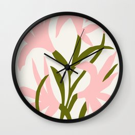 Floral Print, Flower Meadow, Large Giclee Print from Painting, Wall Art, Abstract Meadow Print, pink Wall Clock