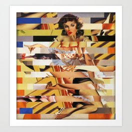 Glitch Pin-Up Redux: Vanessa Art Print