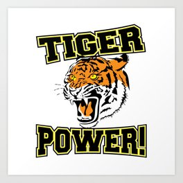 Tiger Power Art Print