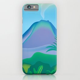Costa Rica - Skyline Illustration by Loose Petals iPhone Case