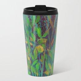 Autumn bouquet on teal background Travel Mug