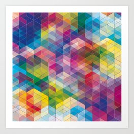 Cuben Curved #7 Art Print