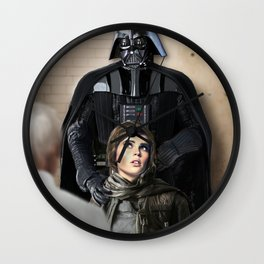 Jyn's in trouble Wall Clock