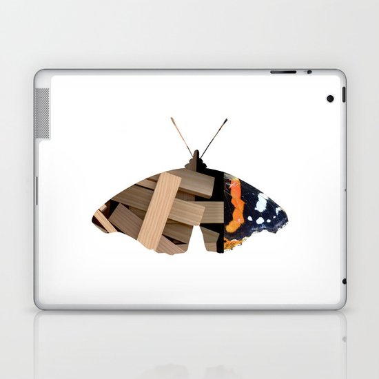 Butterfly WoodMix Collage Laptop & iPad Skin