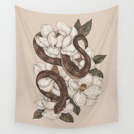 Snake and Magnolias Wandbehang