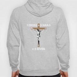 One Cross Three Nails Graphic Jesus Christen T-shirt Hoody